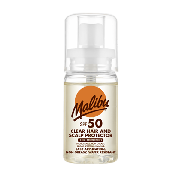 Malibu Clear Hair and Scalp Protector SPF 50