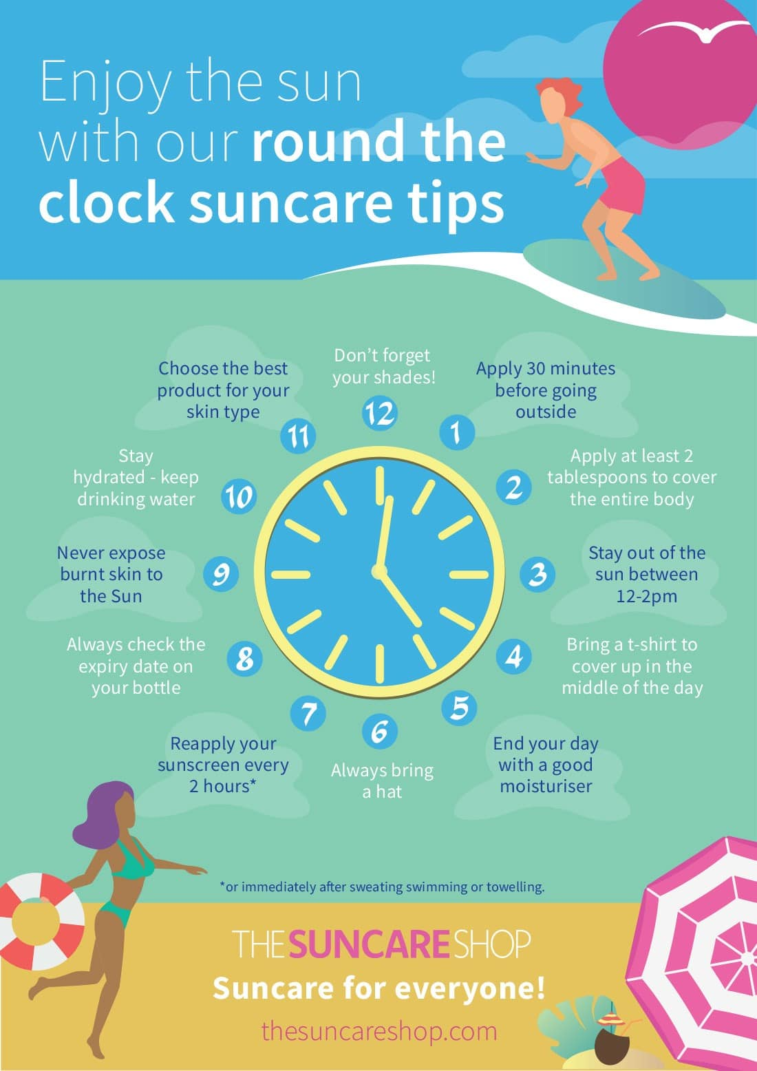 12 rules of summer infographic